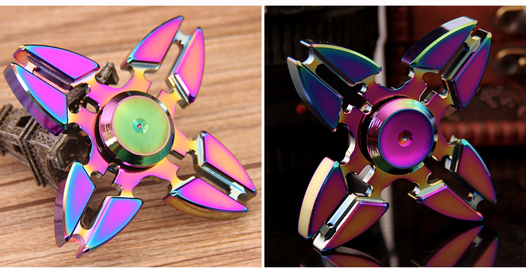 black quick full si3n4 fidget spinner with 608 ceramic bearing