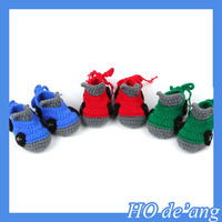 2017 Lovely Car Design Baby Crochet Shoes Handmade Newborn Photography Shoes,Knitted baby shoes