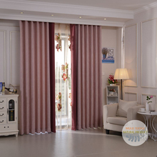 Simple design heavy blackout grommet curtains for the living room