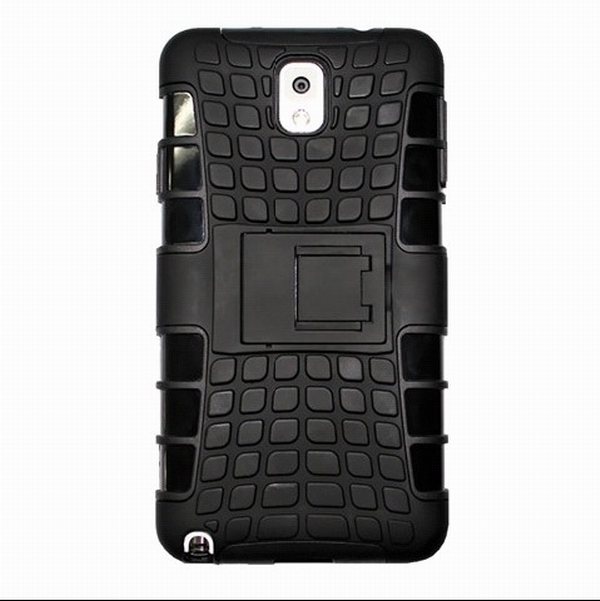 Note 3 Hybrid case, Rugged Spider Style Anti-Shock TPU + PU Combo Case For Samsung Galaxy Note 3 III N9000, With Kick-Stand