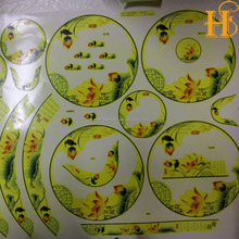 HS custom water slide transfer decals paper for ceramic tiles