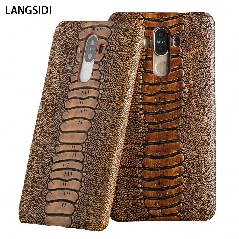 For Huawei <strong>G10</strong> Lite P10 Youth version mobile phone genuine leather case exquisite ostrich texture Holster back <strong>cover</strong>