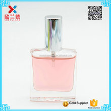 15ml mini square clear empty glass perfume bottle for sales