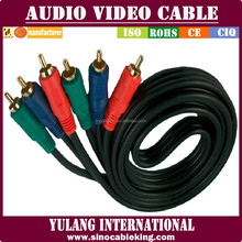 HDTV Shielded 3RCA audio video cable RCA Cable Component RGB AV CABLE