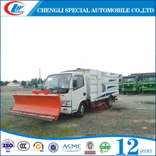 4x2 Road sweeping truck sand cleaning truck snow plow truck for sale