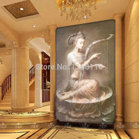 Free shipping large mural wall painting background print painting on canvas living room entrance hallway Chinese Dunhuang Dream