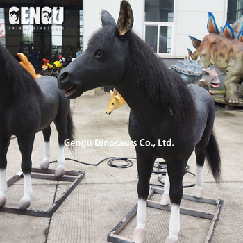 High quality lifesize horse sculpture in foam