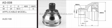 AD-008 Auto Outer cv joint