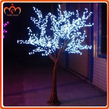 Holiday Lighting cherry flower LED outdoor artificial evergreen trees
