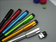 custom logo high quality ball point pen with USB flash disk hot sale