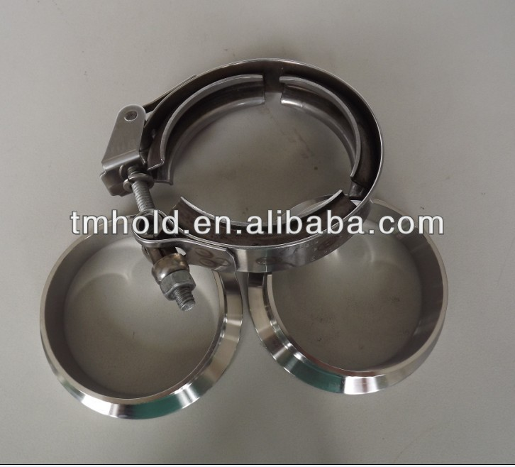 304SS V band grooved clamp,V band O type turbo clamp