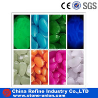 luminous glowing pebble /glass pebble stone