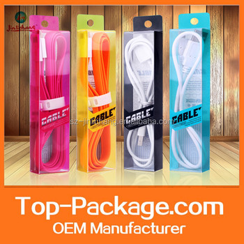 retail transparent plastic USB cable packaging box