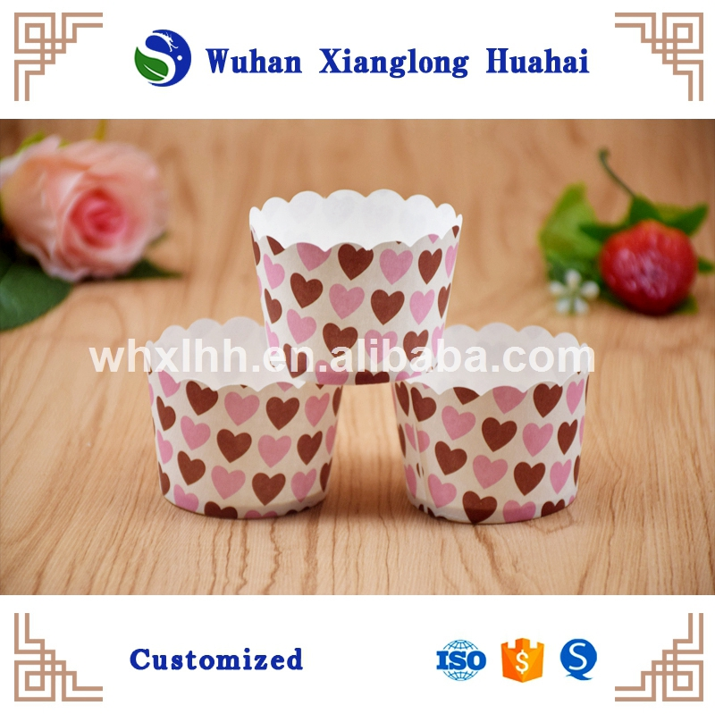 Eco-Friendly Custom Disposable baking paper cup for cake,pizza ,Biscuit