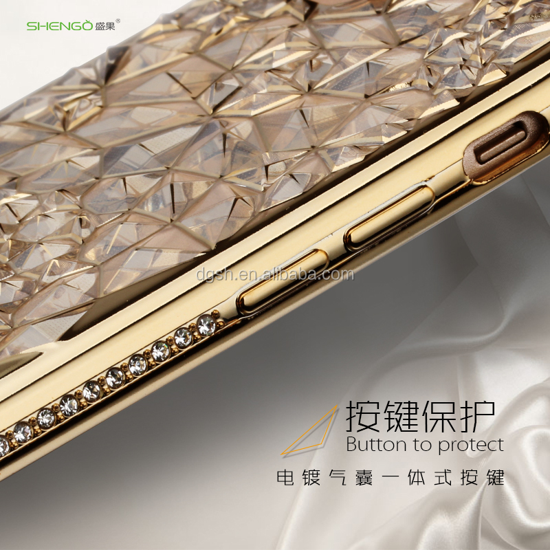 Free sample phone case For iPhone 7/7plus Luxury Ultra Thin Clear Crystal TPU Soft Mobile Phone Case
