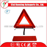 Auto Parts E-MARK certificate Vehicle Tools car folding reflective traffic red warning triangle(HX-D6)