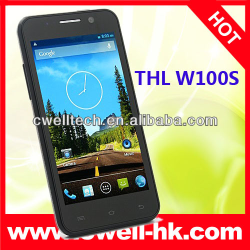 4.5 inch IPS Screen mtk6582M quad core phone thl w100s