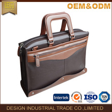 Hot sale good quality custom brown computer bag pu leather laptop bag