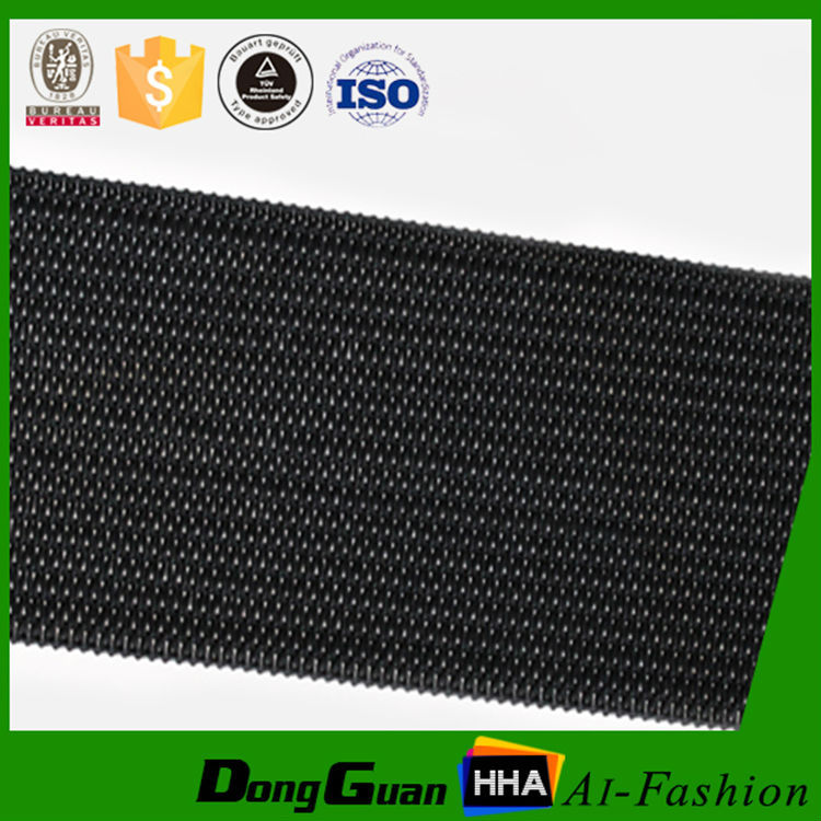 2 Inch Black Polyester Knitted Elastic Webbing
