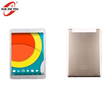gold 9.7 inch tablet pc MTK6582 android 4.4 3G calling metal cover tablet