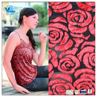 Rayon/Polyester Burn Out Velvet Fabric Wholesale for Sun-top or Muslim Women Head Scarves
