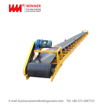 Material Handling Systems, Fixed Rubber Belt Band Conveyor