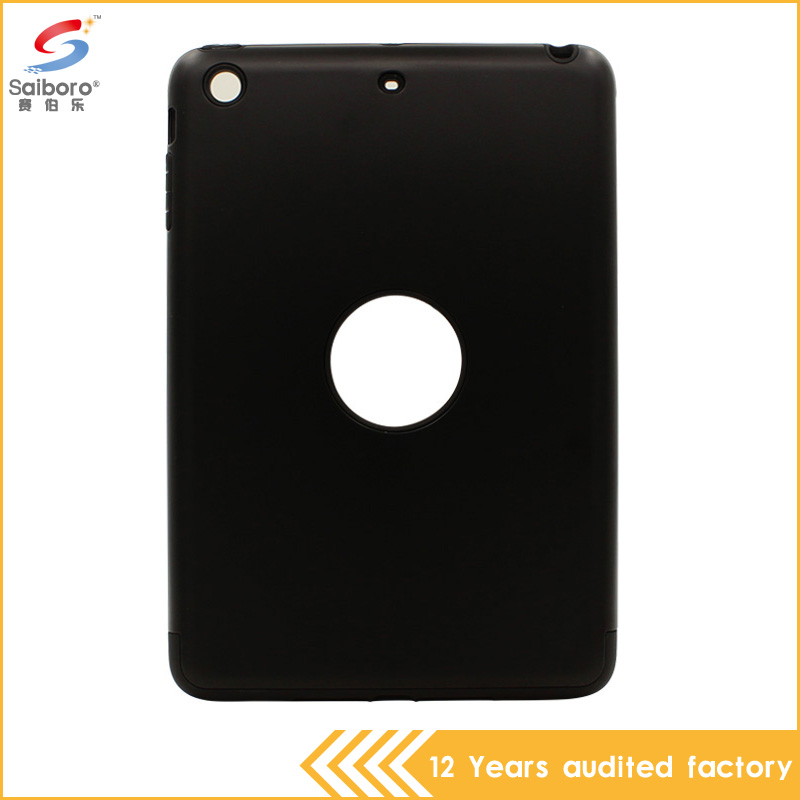 Low moq high quality factory delivery shockproof tpu pc combination black case for ipad mini 3