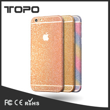 Fashion Colorful rainbow Full Body Glitter Shiny Sparkling Diamond Film Phone Sticker Matte Screen Protector for iphone 6 7 plus