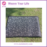 Plastic Knitted rug/carpet with waterproof and fire resistance