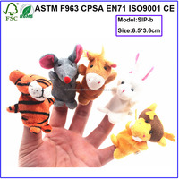 plush animal puppet finger puppet soft toys
