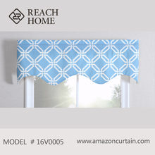 New Curtain Designs High Quality Linened Curtain Valance With Pattern