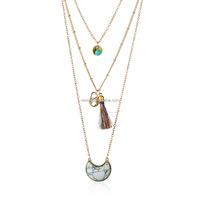 Fashion semi precious stone necklace Wholesale NSNZ-0052