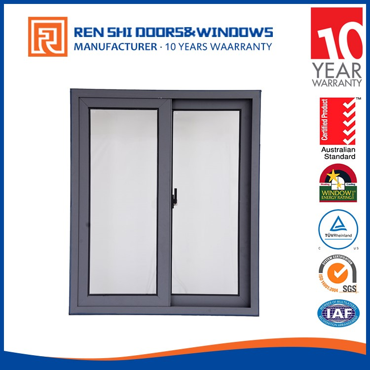 Sound Insulation Water Proof kitchen sliding window aluminium with built-in blinds