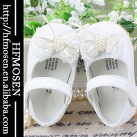 TS3158 woholesale baby shoes cute bow princess baby shoes soft sole wide baby toddler shoes