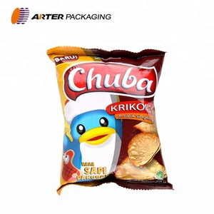 custom printed laminated plastic potato chip packaging bags