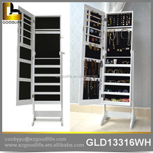 Goodlife mail order package standing jewelry cabinet with mirror