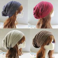 Hot Sell Warm 2 Color Toned Hats Unisex Men Women Oversize Winter Knit Cap