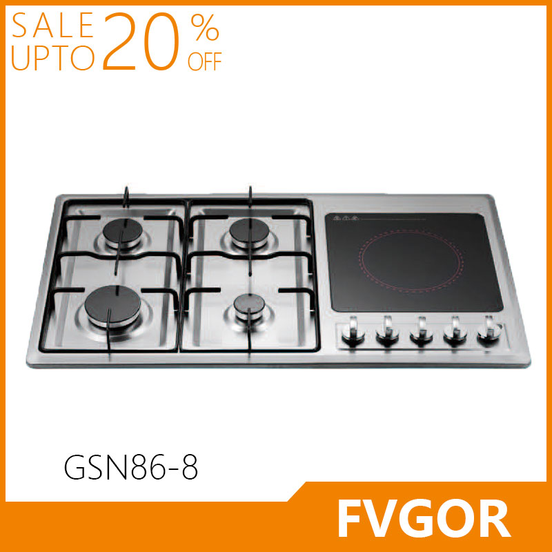 Fvgor GSN86-8 built in electric stove and hob gas cooker burner
