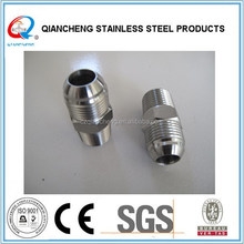 "stainless steel nipple JIC to 1/4"" NPT male adapters"
