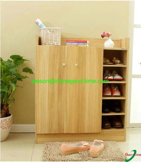 hot sale wooden shoe cabinet closed shoe rack