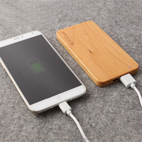 High Quality Wood Power Bank with Custom Logo Print 4000mAh