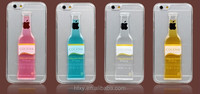 Mobile phone accessories flexible soft case for iPhone 5 with red wine cocktail design