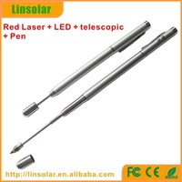 Extendable laser pointer with function red laser pointer led torch and extendable pointer