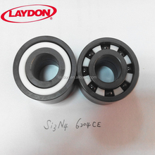 silicon nitride black color 20x47x14 bearing size full ceramic si3n4 bearing 6204