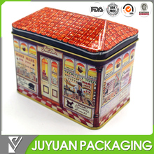 house shaped packing tin box, tin box for packing gift or candy