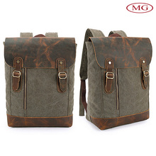 British style retro backpack vintage canvas satchel bags for men/women