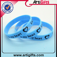 Wholesale fashion advertisment silicon bracelet