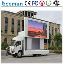 led moving message display sign solar powered digital display panel Leeman P10 outdoor mobile led screen