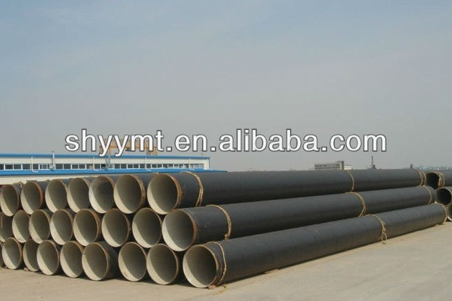 API 5L natural gas pipeline SAW steel pipe with 3PE coating