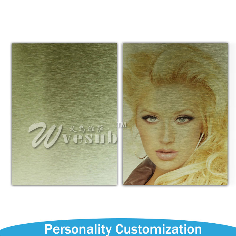 Sublimation Brushed Aluminum Sheet for promotion